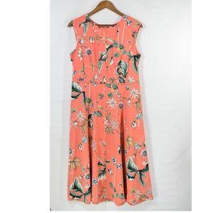 Ann Taylor Tropical Coral Dress